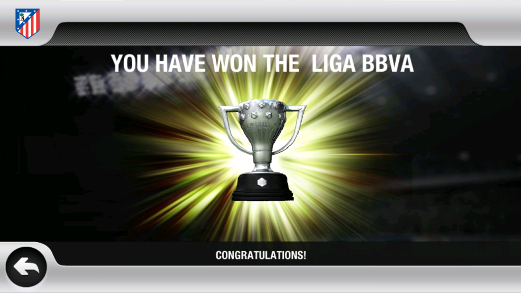 Congratulations You Have Won The Liga BBVA Spain Fifa 12