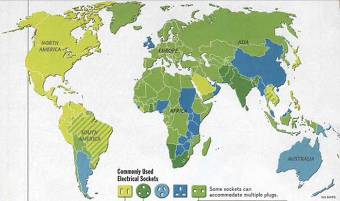 harta tipurilor de prize folosite in lume