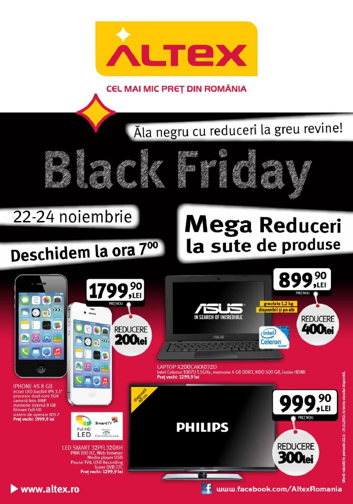 coperta catalog altex black friday