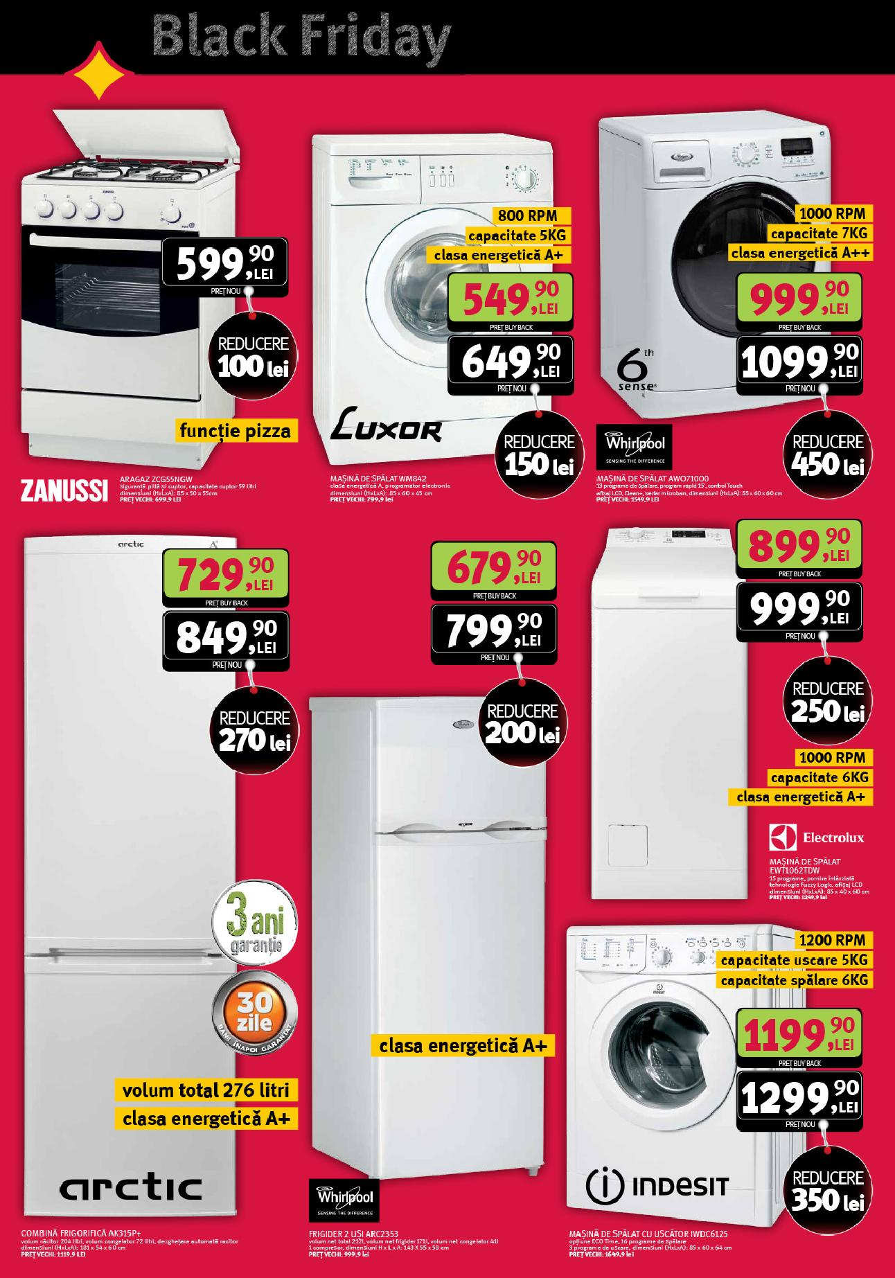 Altex catalog black friday electrocasnice