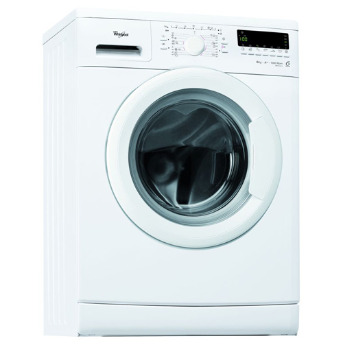 Masina de spalat rufe Slim 6th Sense Whirlpool AWS 61212, 1200 RPM, 6 Kg, Clasa A++