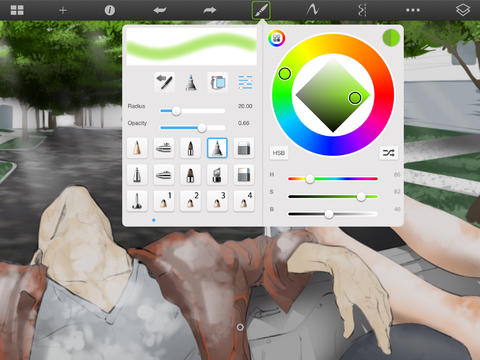 Aplicația SketchBook Pro pentru iPad