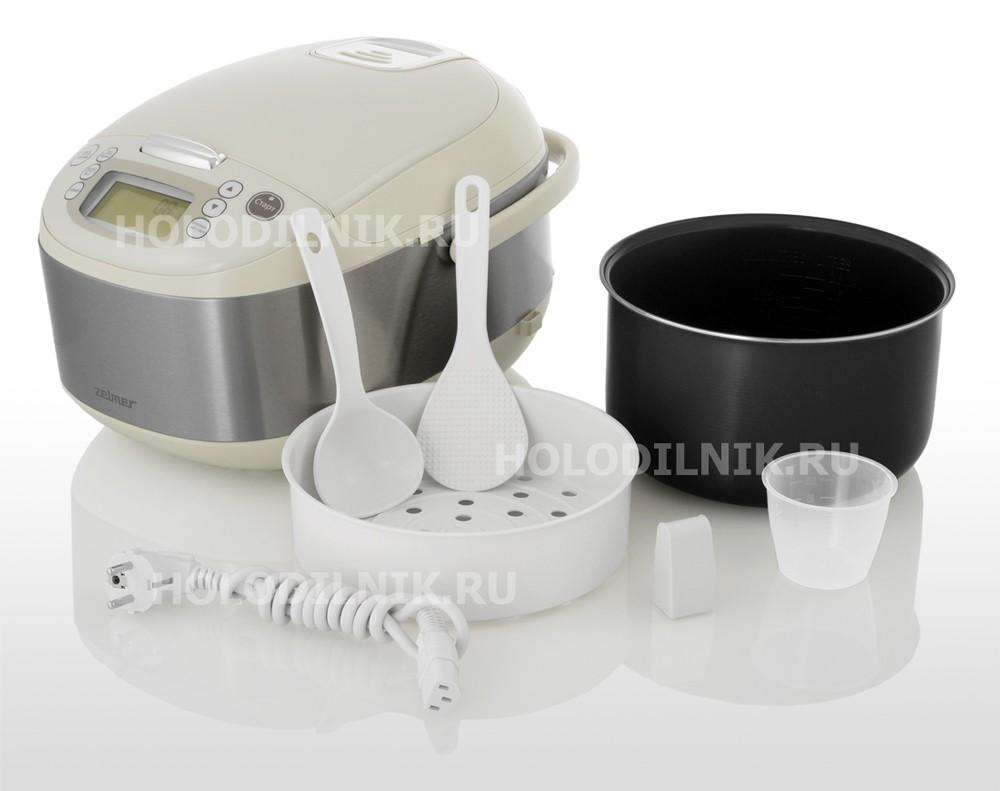 Multicooker Zelmer EK1300 aparat de gatit multifunctional cu ustensile si accesorii, oala si recipient pentru gatit cu aburi