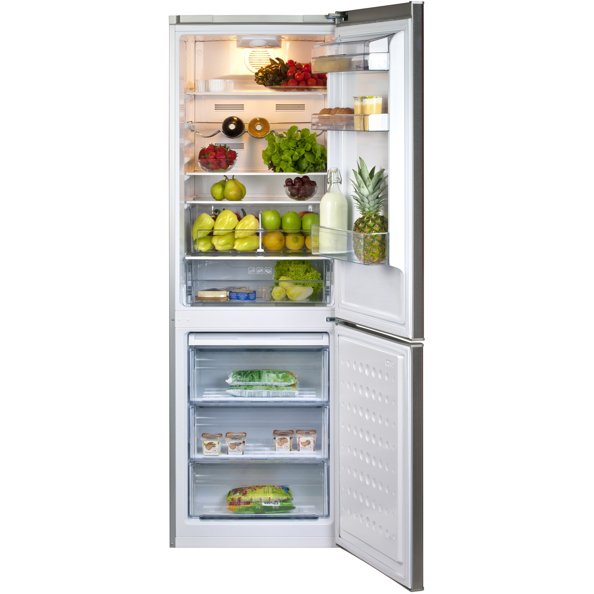 Combina frigorifica Beko DBKEN326X+, sistem racire No Frost, interior