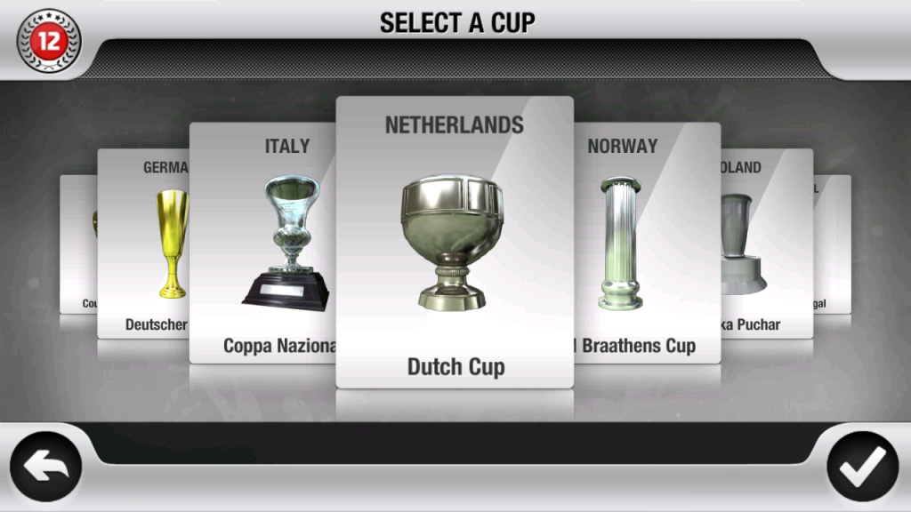 Select a Cup Fifa 2012 Android