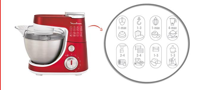 Robot de bucatarie Moulinex MasterChef Gourmet QA407 - Functii