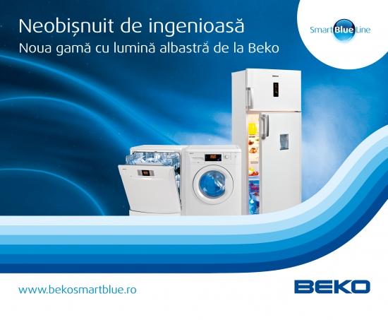 Gama de electrocasnice  Beko Smart Blue Line cu lumina albastra