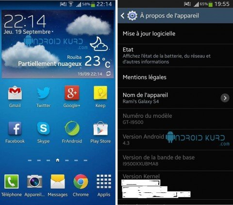 galaxy s4 android 4.3
