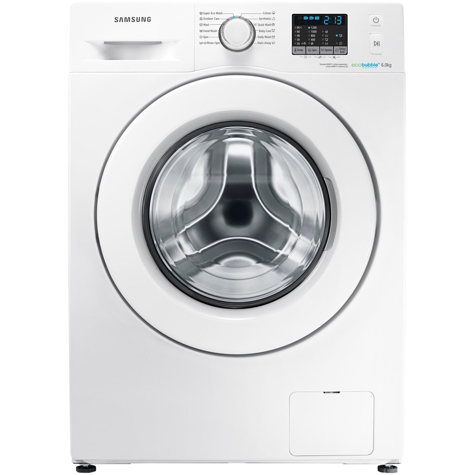Masina de spalat rufe Slim Samsung Eco Bubble WF60F4E0W2W