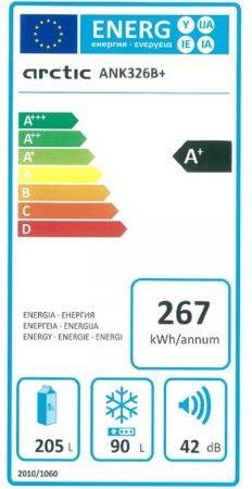 Clasa Energetică Combină Frigorifică Arctic ANK326B+