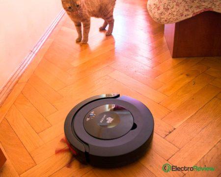 Aspiratorul robot Dirt Spider nu a speriat prea tare pisicile